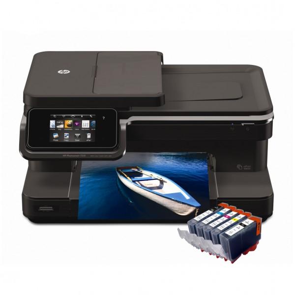 imprimanta-hp-photosmart-7510-wireless-cu-cartuse-reincarcabile